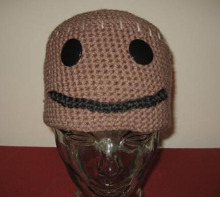 Crocheted Sackboy Hat Sprite Stitch