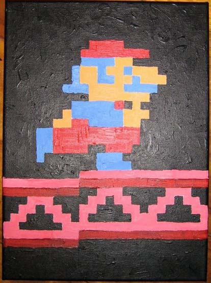Mario from Donkey Kong Painting