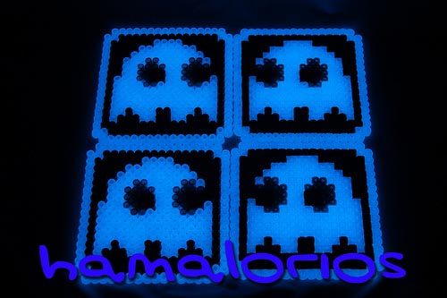 Glow in the Dark Pacman Ghost Coasters 02