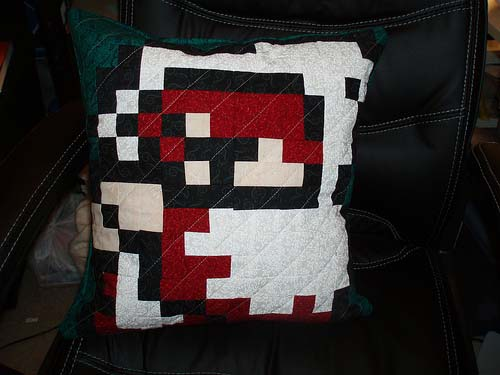 White Mage Final Fantasy Quilted Pillow
