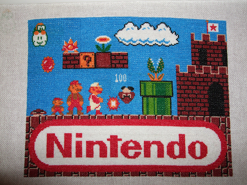 Big Mario Cross Stitch 01