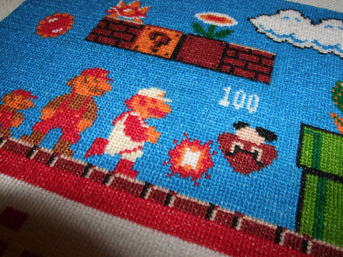 Big Mario Cross Stitch 02