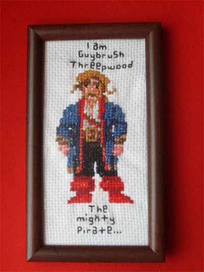Guy Brush Threepwood Cross Stitch