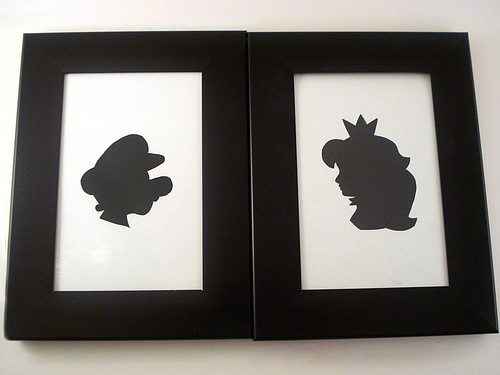 Mario and Princess Silhouette