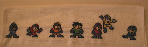 Megaman Cross Stitch Towel
