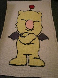 Moogle Crochet Blanket