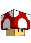 Mario Red Mushroom Papercraft