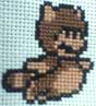 raccoon mario cross stitch