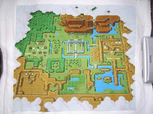 Zelda A Link To The Past Cross Stitch Map