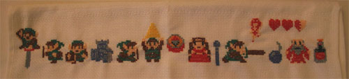 Zelda Cross Stitch Towel