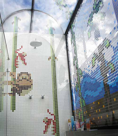 Donkey Kong Jr Tile Shower