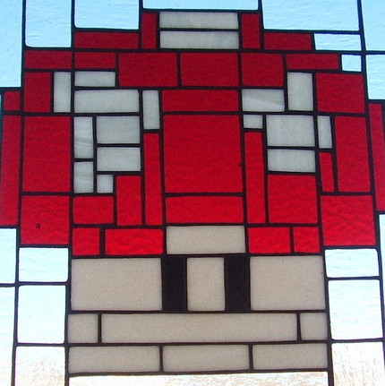 mario mushroom stained glass 01
