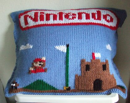 Mario Knit Pillow 1