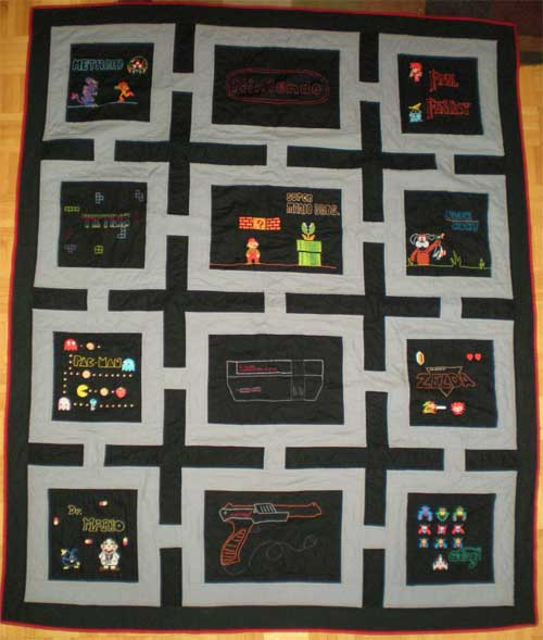 Nintendo Video Game Quilt