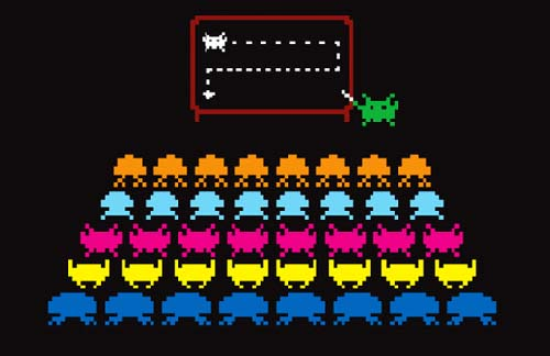 Space Invaders Plan of Attack Shirt Design
