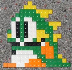 Bubble Bobble Lego Mosaic
