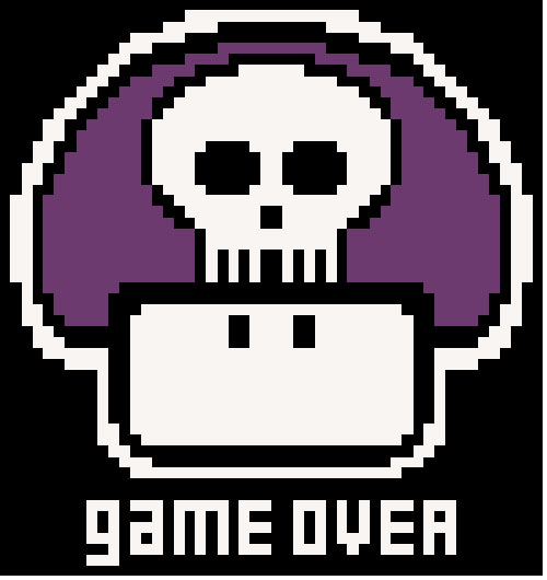 Game Over Cross Stitch Pattern 01