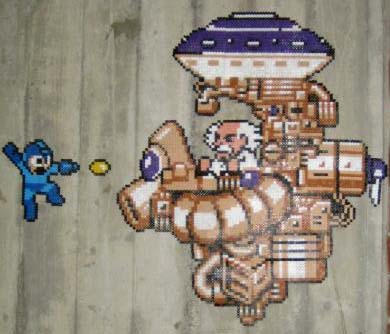 Megaman Perler Bead Wall Art 02