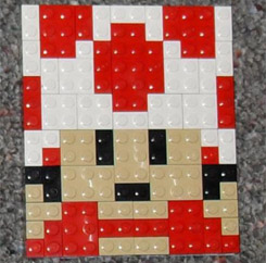 Toad Lego Mosaic Mario