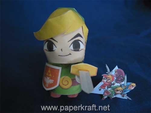 Link Four Swords Papercraft 01