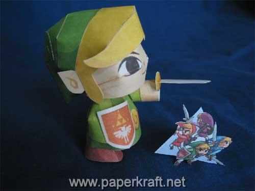 Link Four Swords Papercraft 02