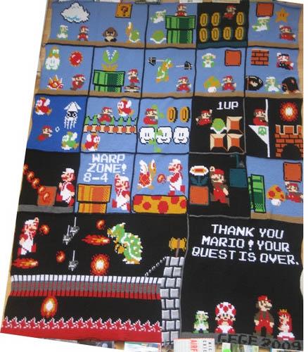 Mario Crochet Blanket 01