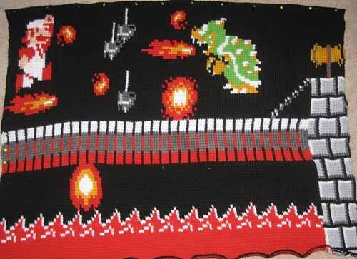 Mario Crochet Blanket 02