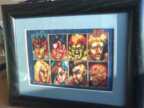Street Fighter 2 Cross Stitch Cast of Characters