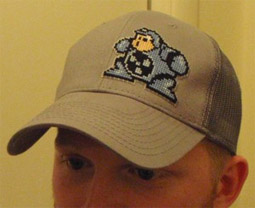 Cross Stitch Hat Megaman