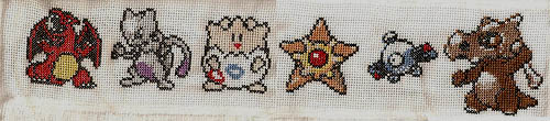 Pokemon Cross Stitch Hand Towel 02