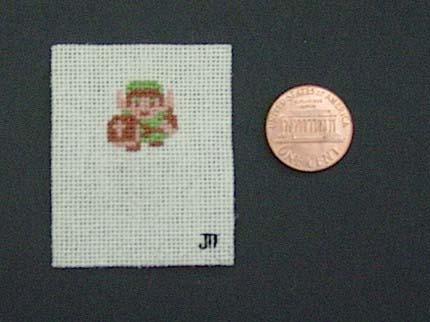 Tiny Link Zelda Cross Stitch