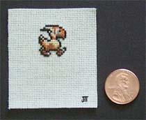 Tiny Chocobo Final Fantasy Cross Stitch