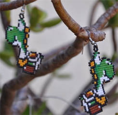 Beaded Earrings Yoshi