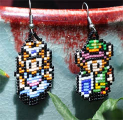 Beaded Earrings Zelda and Link