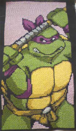 TMNT Donatello Cross Stitch