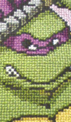 Donatello detail cross stitch tmnt