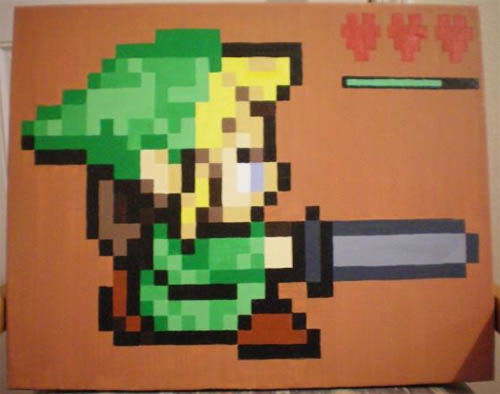 Link Painting Zelda
