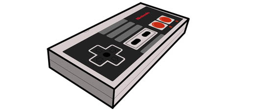 NES Controller Paper Craft Papercraft