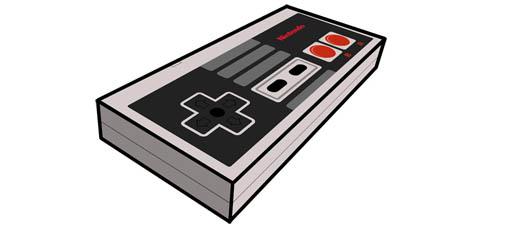 NES Controller Paper Craft Papercraft