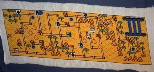 Super Mario 3 World 2 Stitching