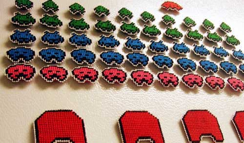 Space Invaders Needlepoint Magnets 02