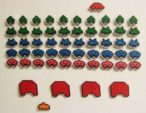 Space Invaders Needlepoint Magnets 03