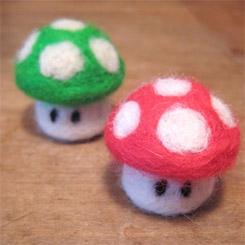 Mario Mushroom Needle Felt