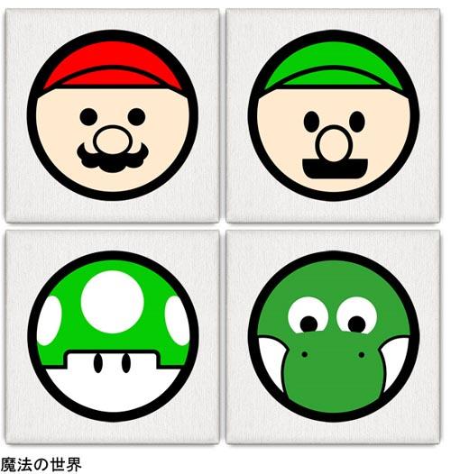 Pop Art Mario Luigi Mushroom