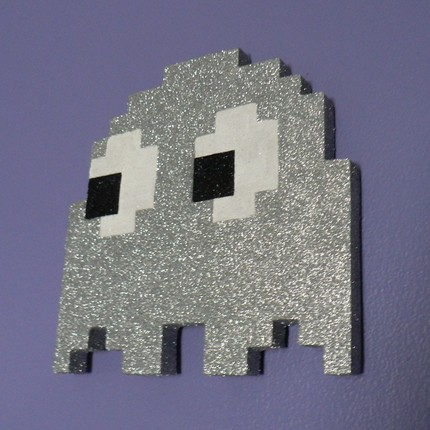 Blingy wood Pacman Ghost