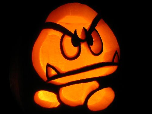 Goomba Pumpkin Jack O Lantern