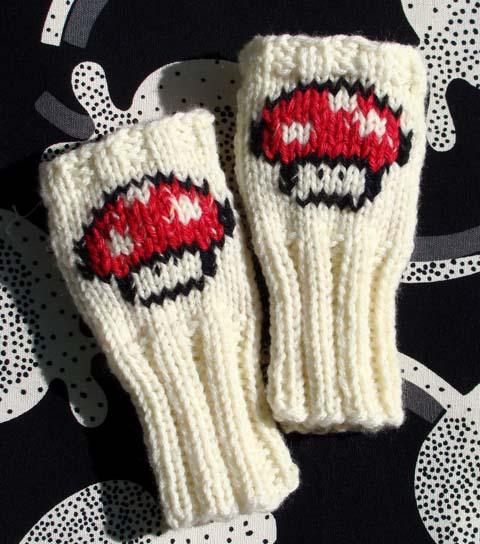 Mario Mushroom Wrist Warmers