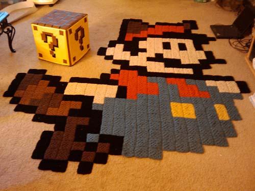 Mario Ottoman and Rug 01