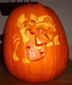 Raccoon Mario Pumpkin 01