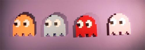 Wood Pacman Ghost 01